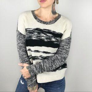 AUTUMN CASHMERE Boucle Striped Sweater